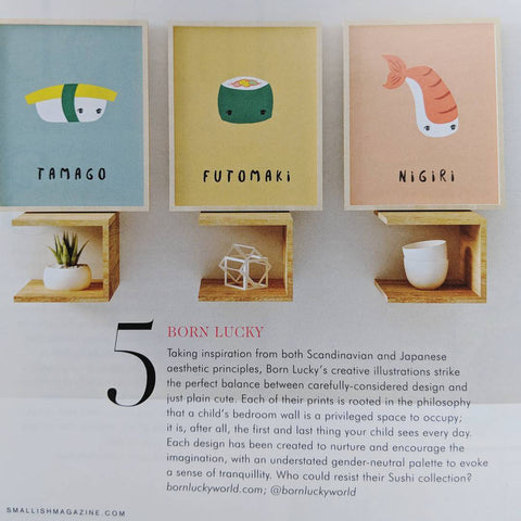 Born Lucky Nursery Decor Prints Smallish Magazine