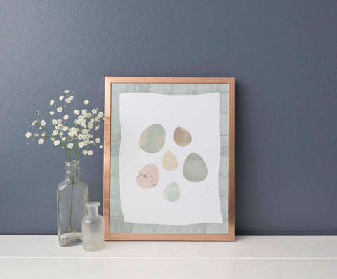 Birds Egg Illustration | Scandi Nursery Decor Wall Art | Born Lucky