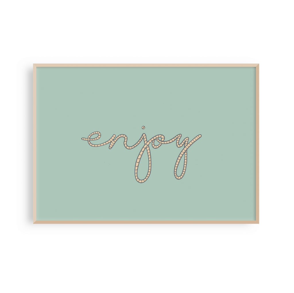 Enjoy - Rope Letter Typography Print
