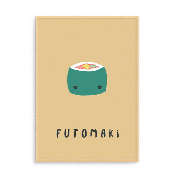 Futomaki Illustration | Nursery Art Prints | SUSHI Collection | Scandinavian Kids Design | Born Lucky | Playroom | Nursery