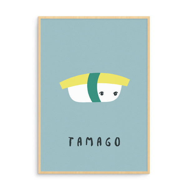 Art Prints | Tamago SUSHI Illustration | Scandinavian Design | Born Lucky