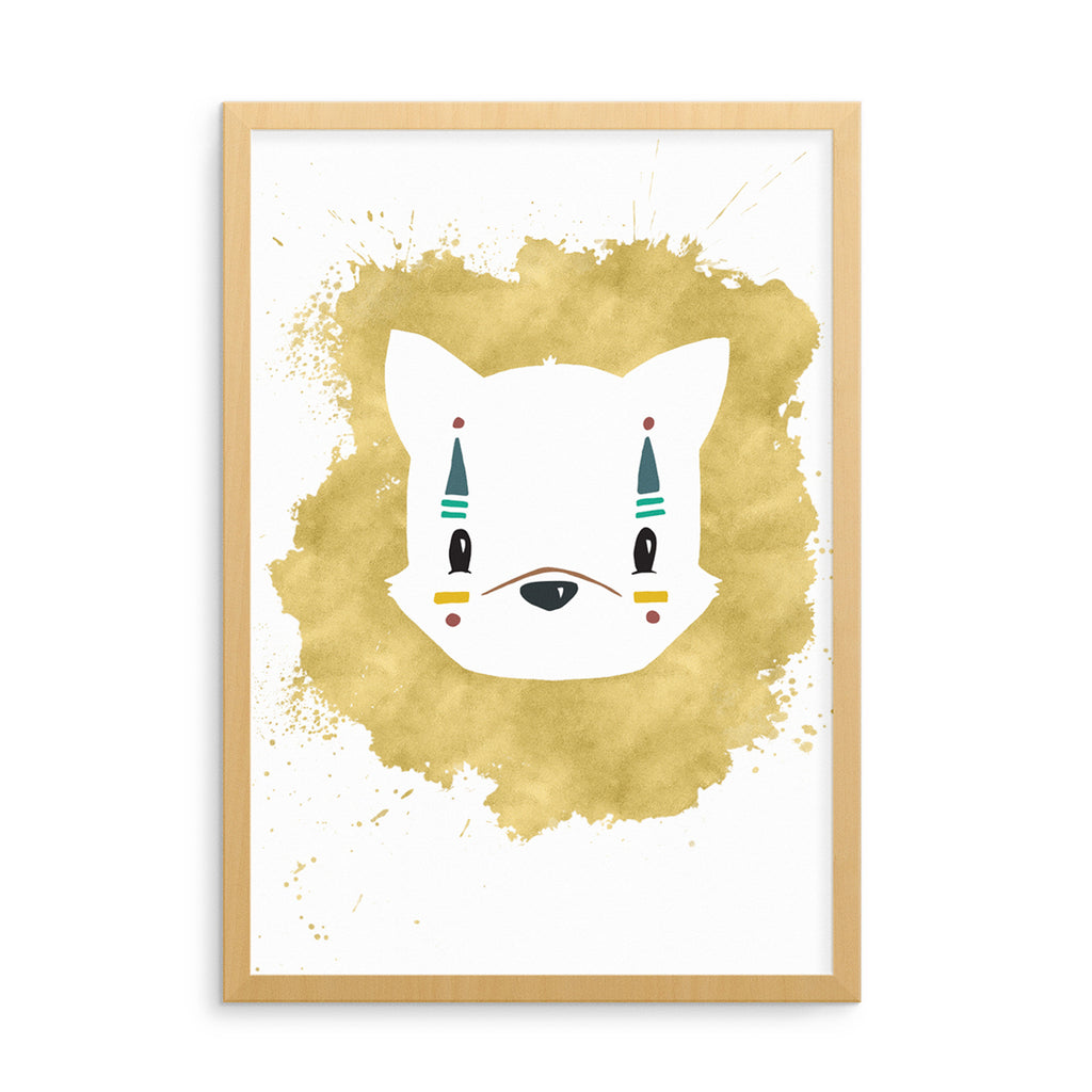 Born Lucky Nursery Tribal Animal Art Print Posters