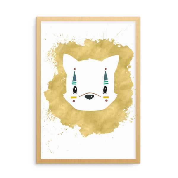 Tribal Fox Kids Art Print | Scandinavian Nursery Decor | Born Lucky