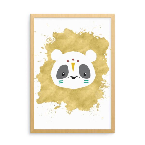 Tribal Panda Kids Art Print | Scandinavian Nursery Decor | Born Lucky