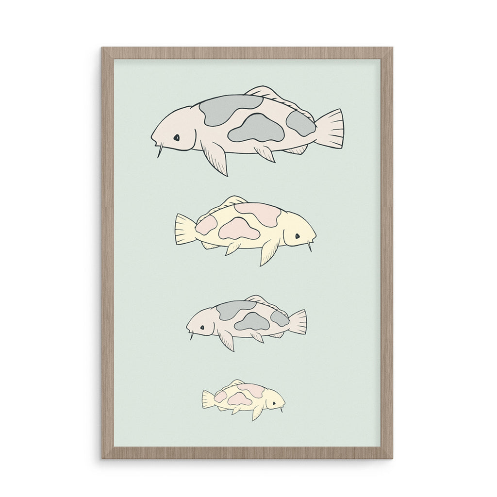 Born Lucky Nursery Design Sea Life Art Print Posters