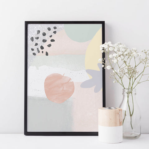 Born Lucky Nursery Design Abstract Apple Art Print Posters