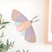 batik moth wall sticker family home