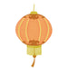 Chinese Paper Lantern Illustrated Fabric Wall Sticker