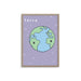 French Earth Planet Nursery Design Art Pint