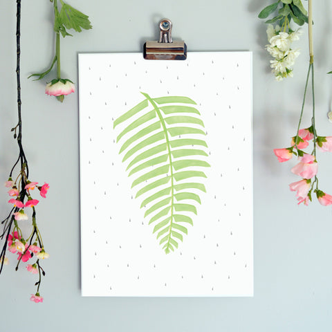 Born Lucky Nursery Botanical Illustration Art Print Posters