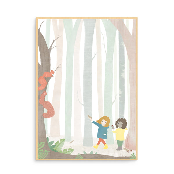 Born Lucky Forest Watercolour Nursery Wall Art
