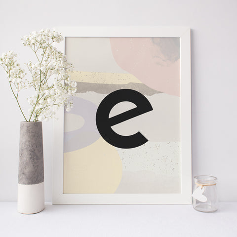 Personalised Alphabet A-Z Poster Illustration | Scandi Nursery Decor Wall Art | Born Lucky | A3 Print