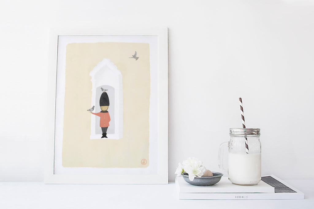 London Guard Nursery Illustration Art Print