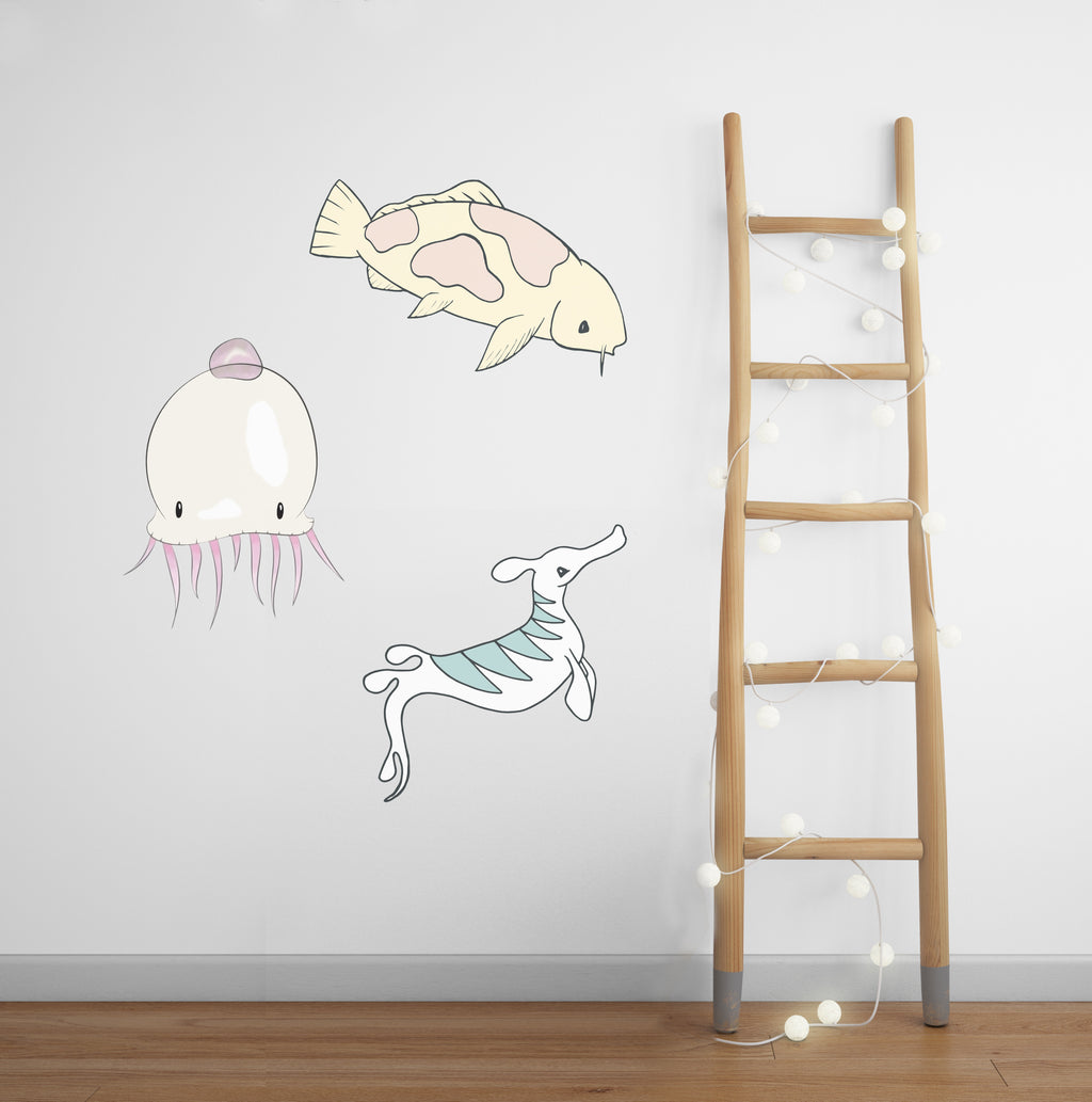 Fabric Wall Stickers SEALIFE