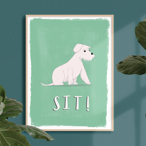 SIT Good Dog Print