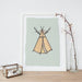 Born Lucky Nursery Design Teepee Wigwam Igloo Art Print Posters