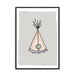 Stitched Wigwam Illustration | Scandinavian Nursery Decor Wall Art | Born Lucky