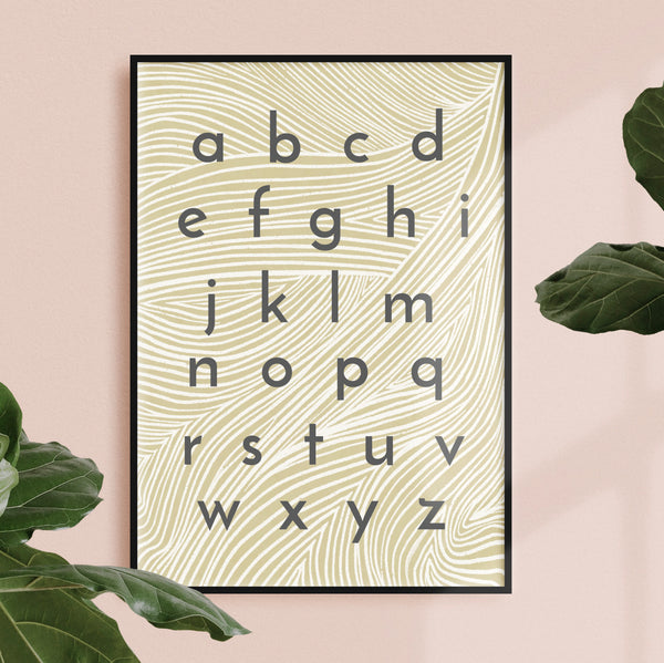 design led nursery alphabet