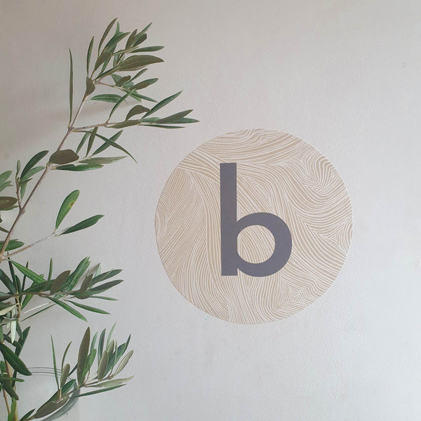 Personalised Woodcut Initial Wall Sticker