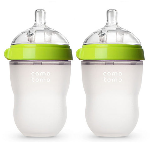8 Ounce Baby Feeding Bottles, Pack of 2 (Green)