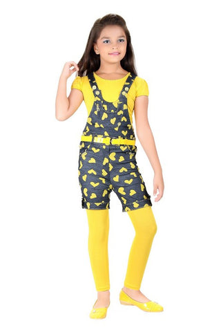 Mini Mini Girls Western Top & Bottom Set -Yellow