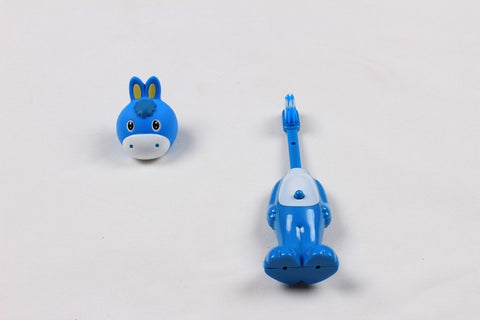 Ole Baby brings you the collectors edition of Bounce Up Funny Horse Headed Kids Push Button Tooth brush Cum Toy (Age-3+ years)