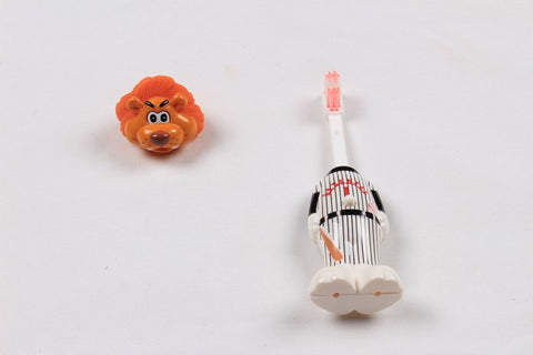 Ole Baby brings you the collectors edition of Bounce Up Funny Lion Headed Baseball Player Kids Push Button Tooth brush Cum Toy (Age-3+ years)