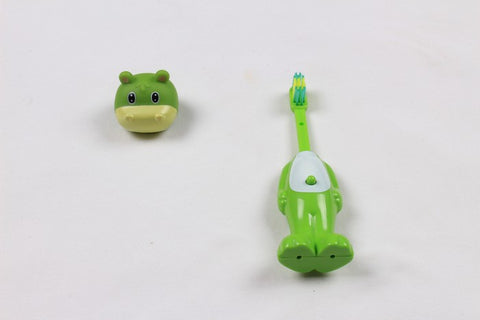 Ole Baby brings you the collectors edition of Bounce Up Funny Dino Headed Kids Push Button Tooth brush Cum Toy (Age-3+ years)