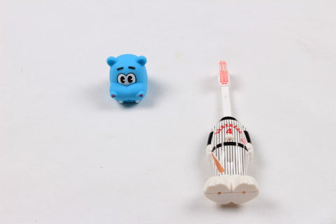 Ole Baby brings you the collectors edition of Bounce Up Funny Hippo Headed Baseball Player Kids Push Button Tooth brush Cum Toy (Age-3+ years)