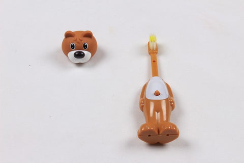 Ole Baby brings you the collectors edition of Bounce Up Funny Dog Headed Kids Push Button Tooth brush Cum Toy (Age-3+ years)