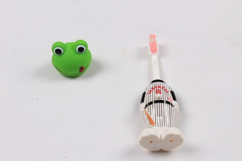 Ole Baby brings you the collectors edition of Bounce Up Funny Frog Headed Baseball Player Kids Push Button Tooth brush Cum Toy (Age-3+ years)
