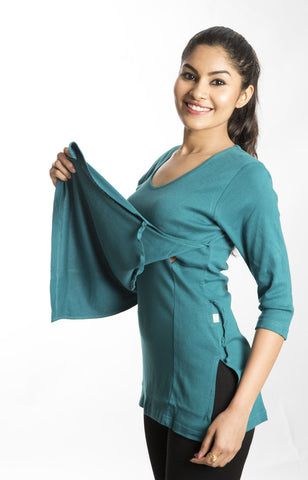 Double Layer Nursing Top (Green)