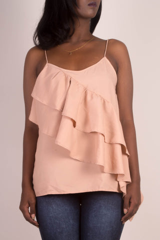 H&M Strappy Ruffled Top