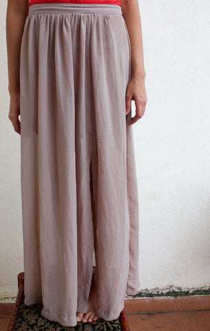H&M Grey Maxi Skirt with side Slit