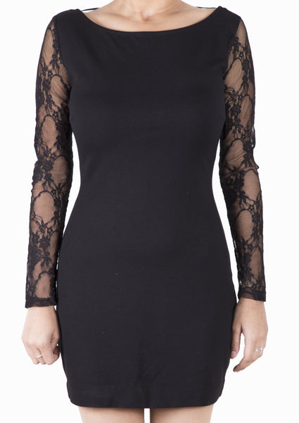 Zara Lace Sleeve Bodycon Dress