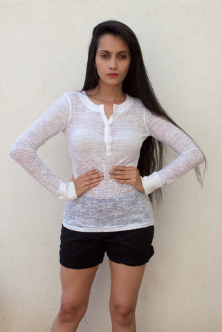 Xhilaration White full sleeves Knit top