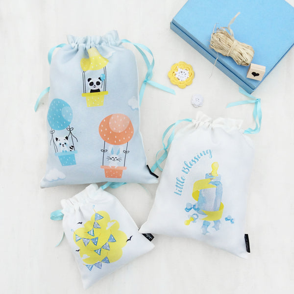 Whistling Yarns Baby Bags - set
