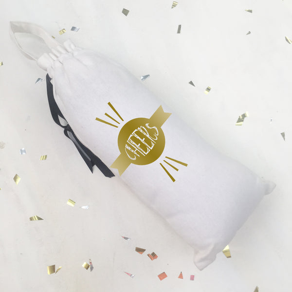 SHIMMER & SPARKLE BAGS {gold on white}