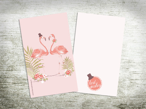 CARDS - FLAT {flamingos}