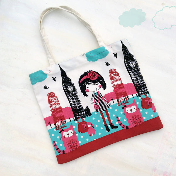 TOTE BAG {girl on an adventure}
