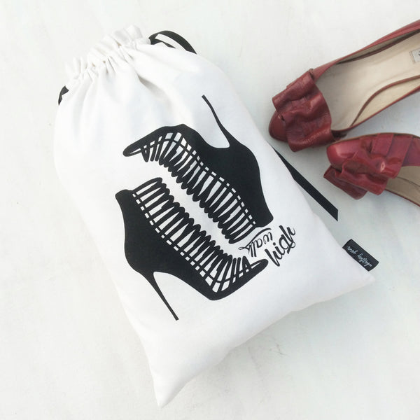 HEEL AND SNEAKER BAGS {black and white collection}