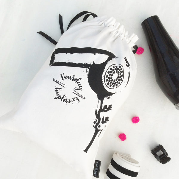 HAIR ACCESSORY BAGS {black and white collection}