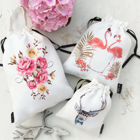 GIFT BAGS OR UTILITY BAGS / COMBO {born wild}