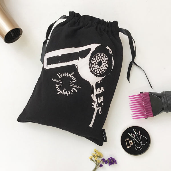 HAIR ACCESSORY BAGS {back to black}