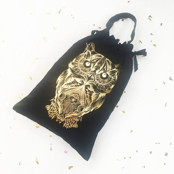GIFT BAGS / FESTIVE COLLECTION {gold on black}