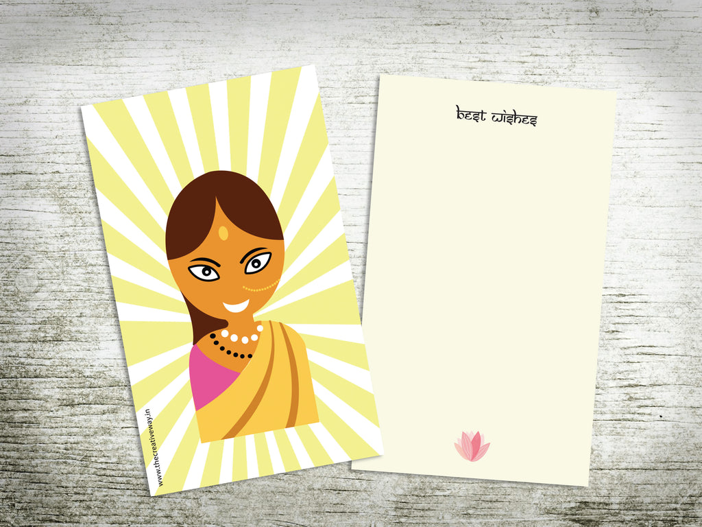 CARDS - FLAT {indian girl}