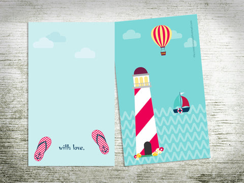 CARDS - FLAT {lighthouse}