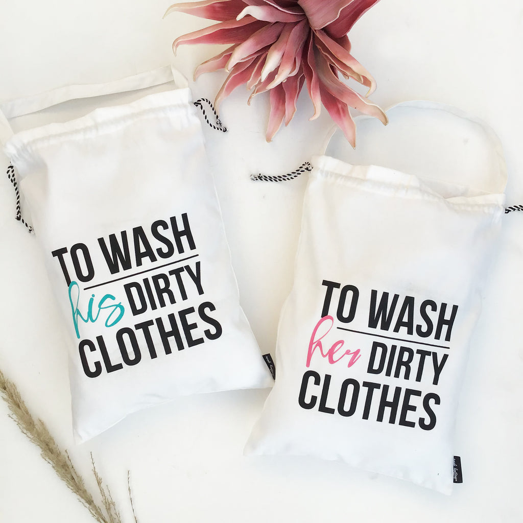 Mini Laundry Bags - his & hers