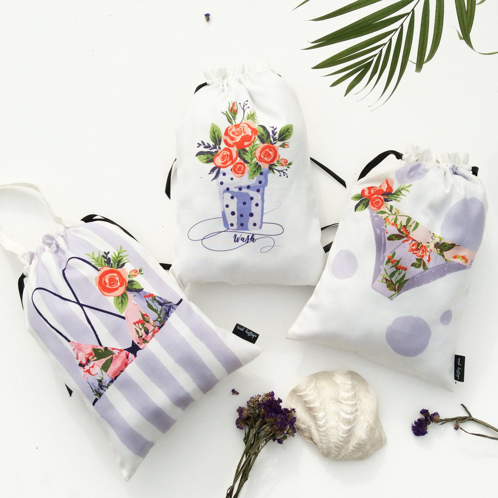 LINGERIE BAGS {jungle bloom}