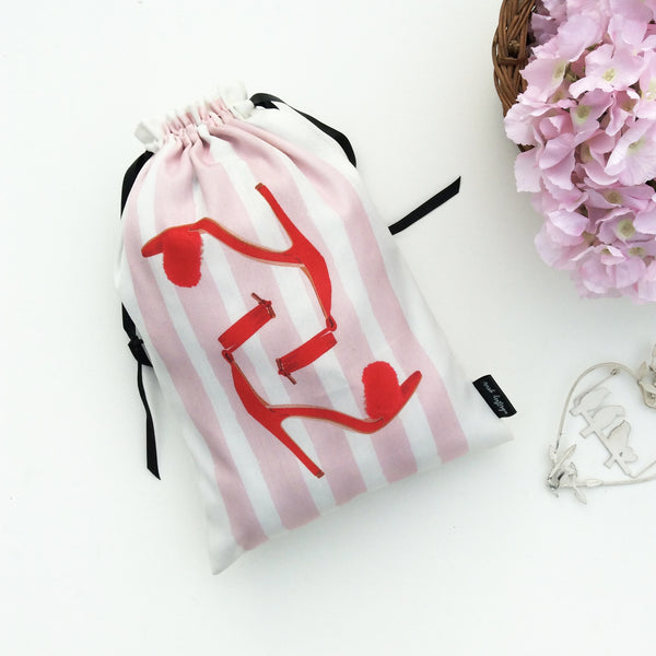 WOMEN'S SHOE BAGS {retro blush}